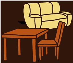 梱包できないテーブル・椅子など